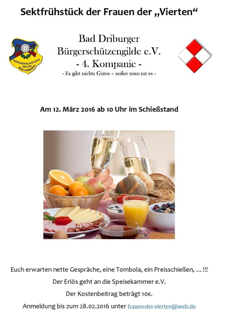 Plakat_Sektfrühstück 4.Kompanie
